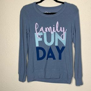 NWT Chaser Family Fun Day Crew Neck Sweater small